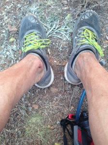 Estado de mis piernas tras 60 km