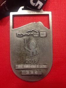 Medalla de Finisher grabada.